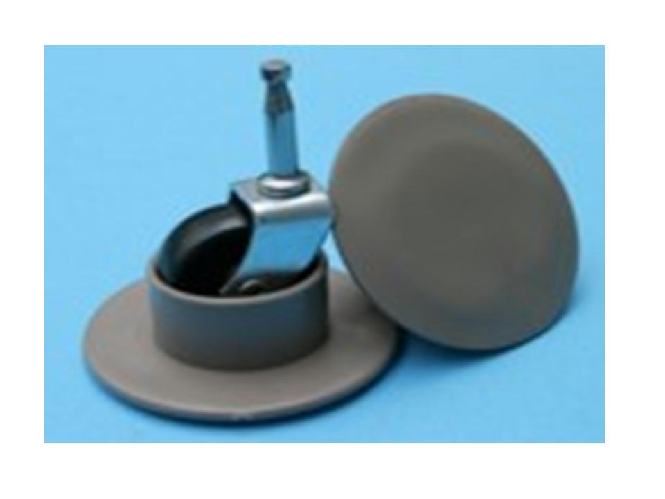 Set Of 4 Castor Cups For Wheeled Or Ball Castors 40mm